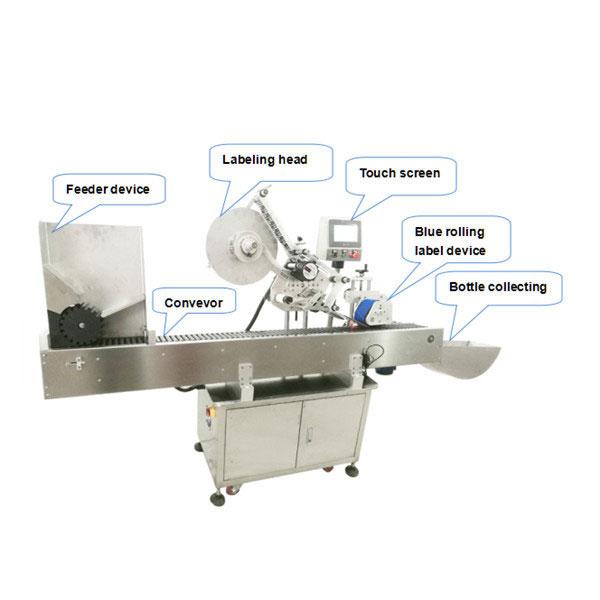 10ml Küçük Yuvarlak Şişe Otomatik Kendinden Yapışkanlı Etiket Etiketleme Makinesi