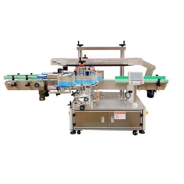Otomatik Etiket Çift Taraflı Plastik Şişe Etiketleme Makinesi 12 Ay Garanti