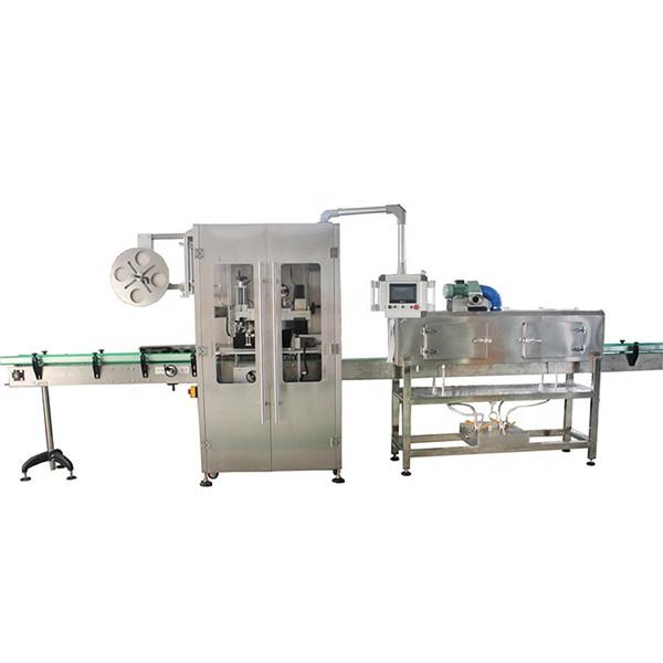 Çeşitli Şişeler İçin Çift Taraflı Paslanmaz Çelik Shrink Sleeve Etiketleme Makinesi