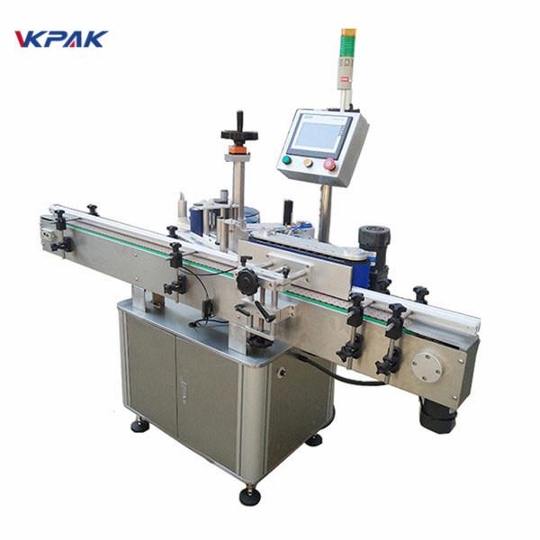 Otomatik Süt ve Suyu İçin Yüksek Etiketleme Hızı Yuvarlak Şişe Etiketleme Makinesi