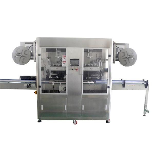 Çeşitli Şişeler CE için PET Şişe Paslanmaz Çelik Shrink Sleeve Etiketleme Makinesi