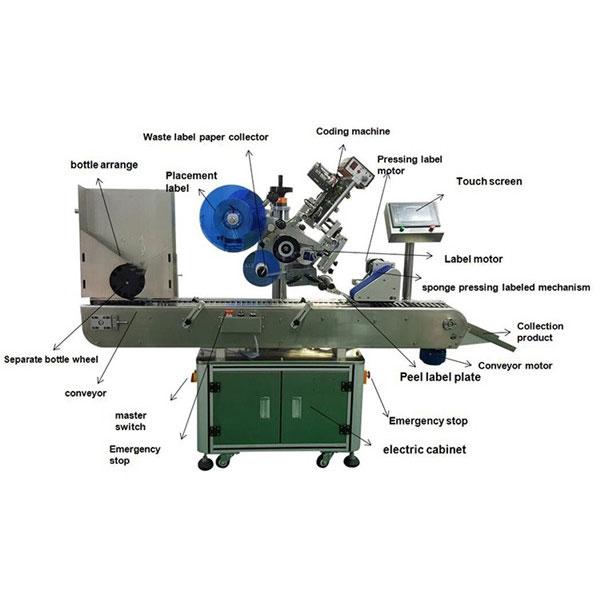 İlaç Flakon Etiket Etiketleme Makinesi 10-30 mm Şişeler Çapı