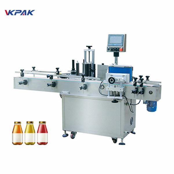 Şarap Şişesi Tek Taraflı Otomatik Yuvarlak Şişe Etiketleme Makinesi