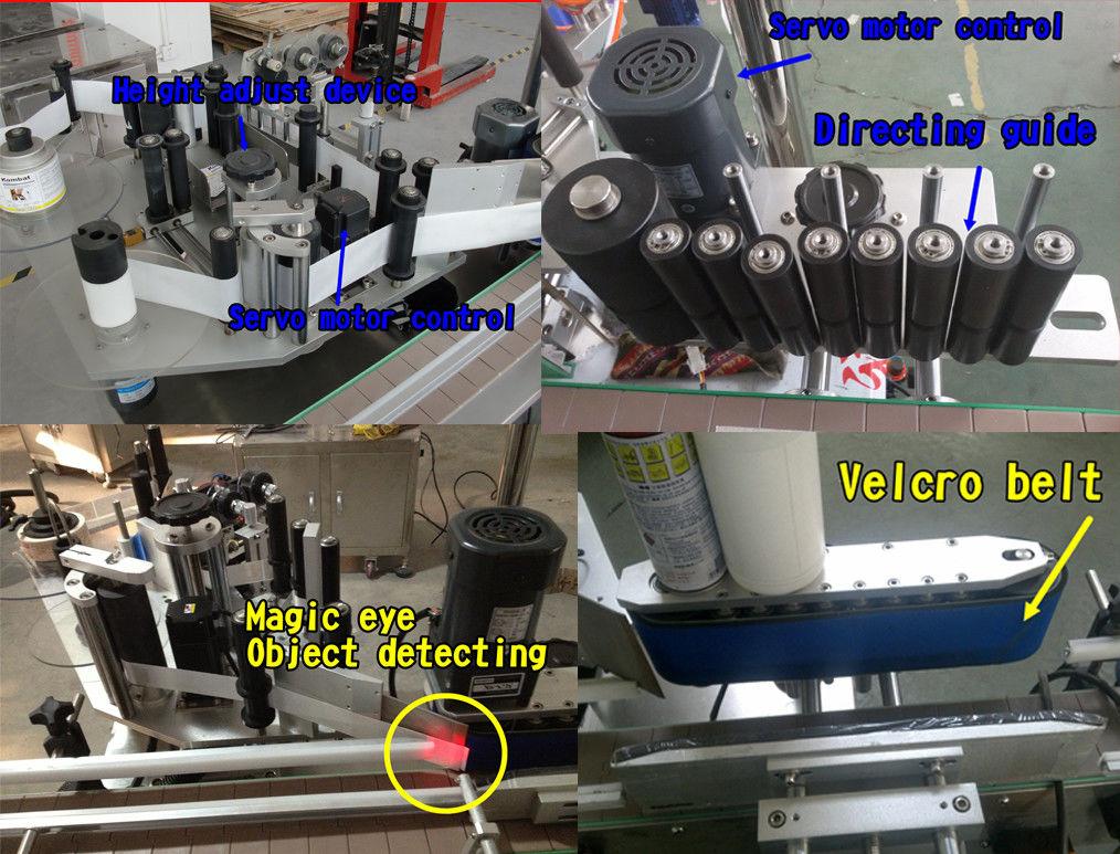 Kozmetik Şişe Etiketi Yuvarlak Şişe Etiketleme / Kendinden Yapışkanlı Etiketleme Makinesi