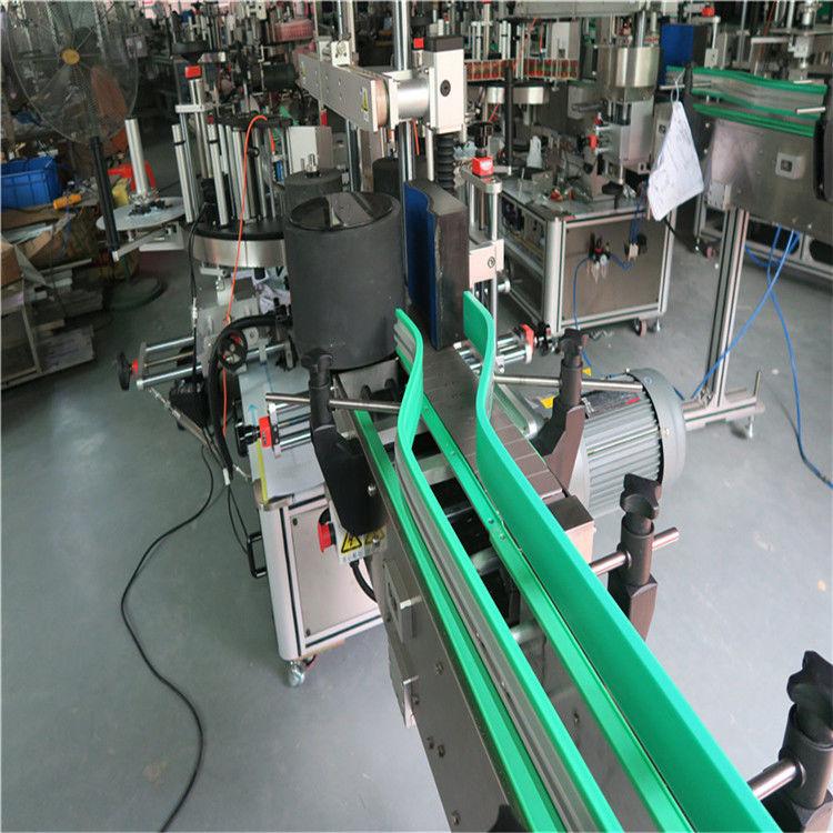 İki Otomatik Etiket Etiketleme Makinesi Çift Taraflı Etiketleme 6000-8000 B / H