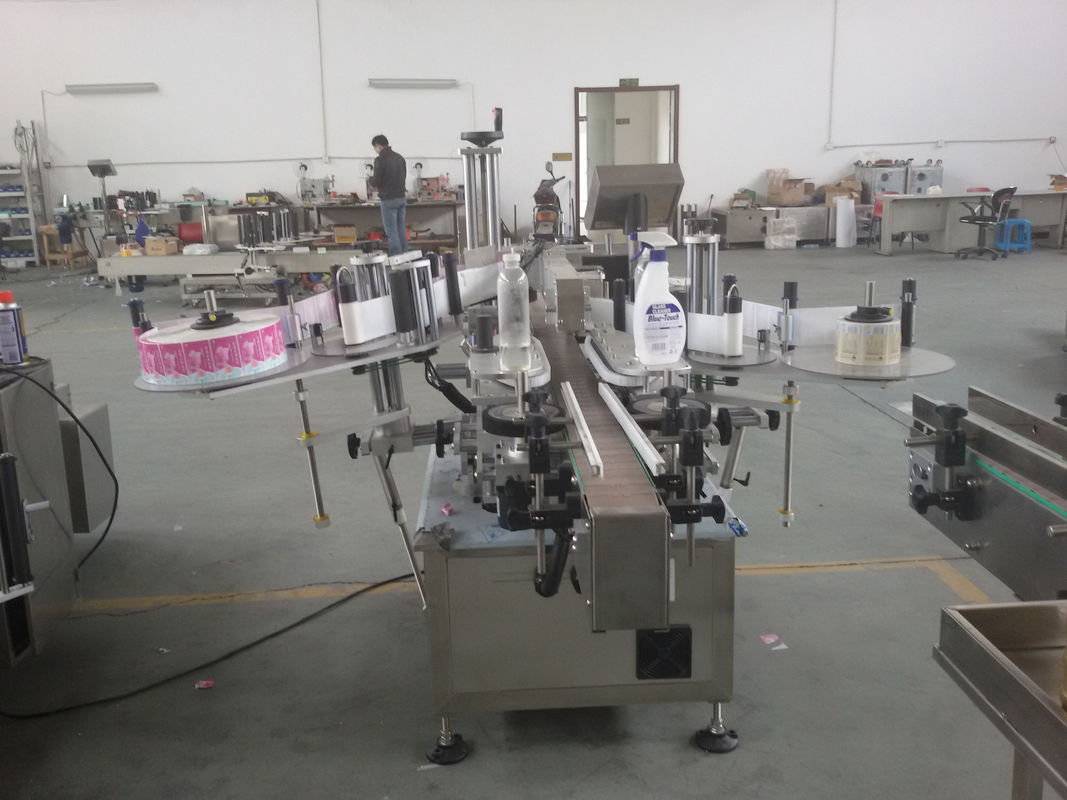 Plastik ve Cam Şişeler Otomatik Çift Taraflı Etiket Etiketleme Makinesi