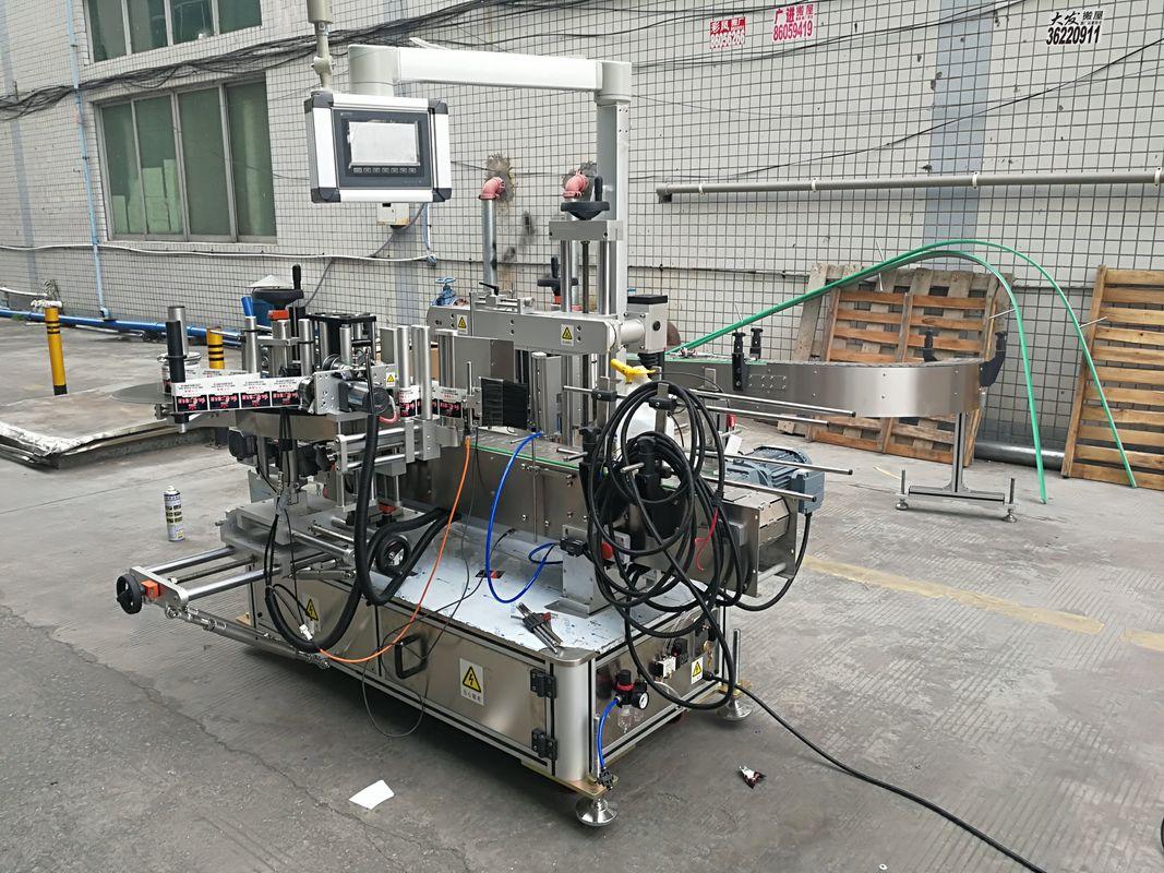Kodlayıcı ile Tam Otomatik Yapışkanlı Çift Taraflı Şişe Etiketleme Makinesi