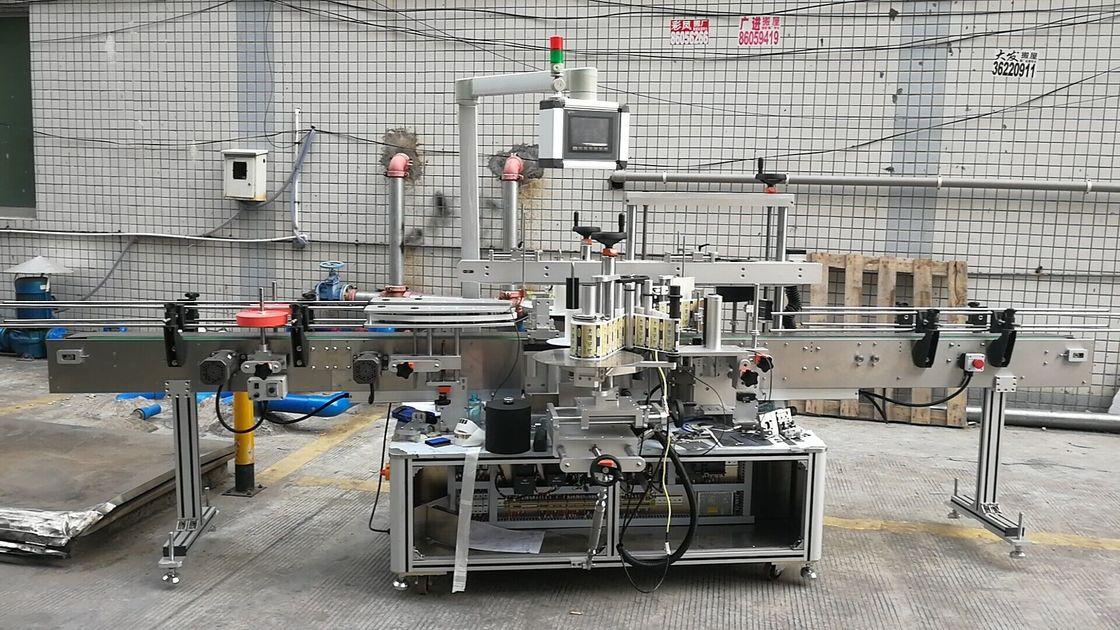 Otomatik Yapışkanlı Kare Şişe Etiketleme Makinesi Çift Taraflı