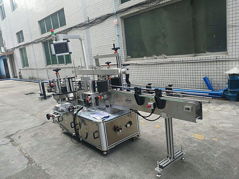 Çin Kendinden Yapışkanlı Etiket Çift Taraflı Şişe Etiketleme Makinesi Tam Otomatik tedarikçisi